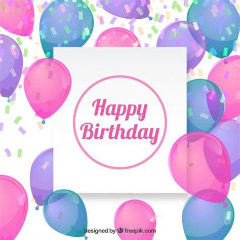 descargar imagenes de happy birthday gratis fondo de cumplea 241 os con globos descargar vectores gratis