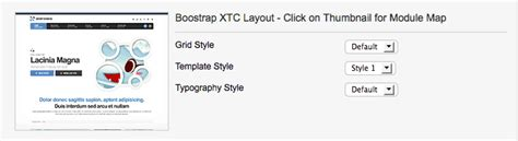 layout grid mode template parameters