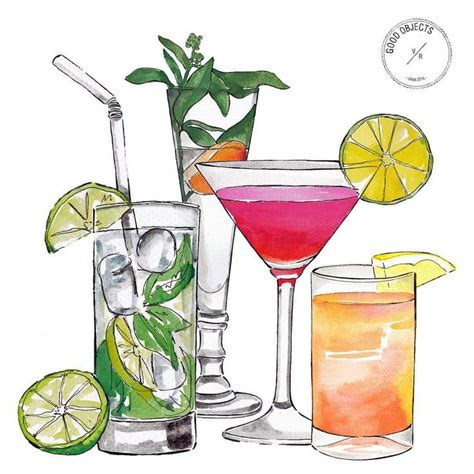 cocktail drawing 588 best images about illustrations cocktails
