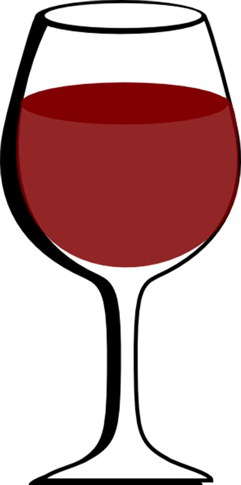cartoon wine glass of red wine clip art at clker com vector clip art