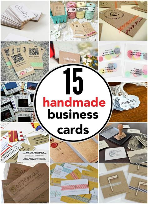 Handmade Ideas For Business - 25 best ideas about make business cards on