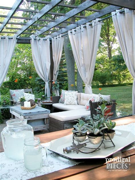 outdoor deck drapes best 25 pergola curtains ideas on pinterest outdoor
