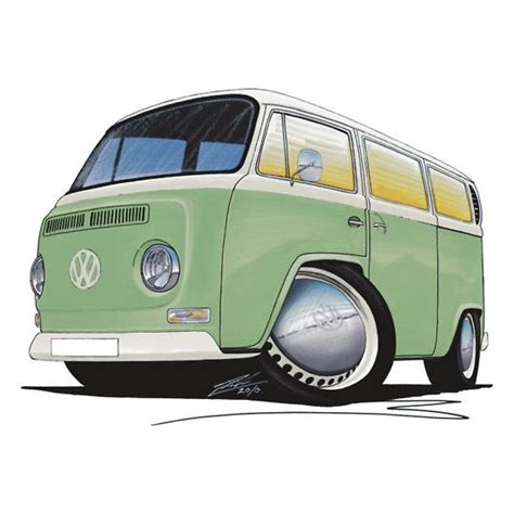 volkswagen van cartoon 206 best images about vw art on pinterest cars surf and