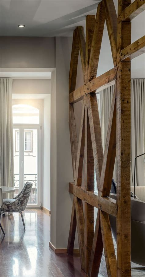 Rustic Room Divider Wood Beams Room Divider A La Maison Rustic Modern Design And Space Dividers