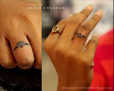 diamond ring tattoo designs cutest ring by akash chandani pretty