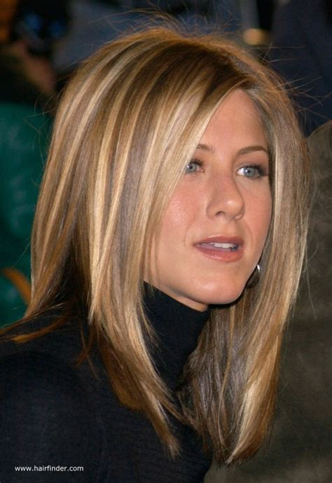 hairstyles through the years jennifer aniston sleek ironed hair with natural blended