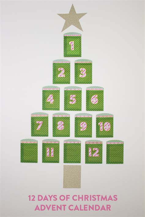 twelve days of advent calendar handmade