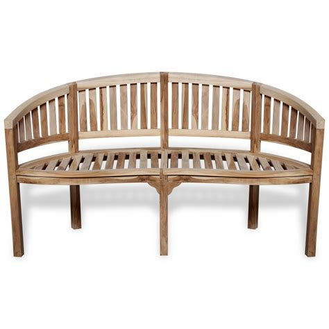 banana benches vidaxl co uk vidaxl teak banana bench with 2 seats 120 cm