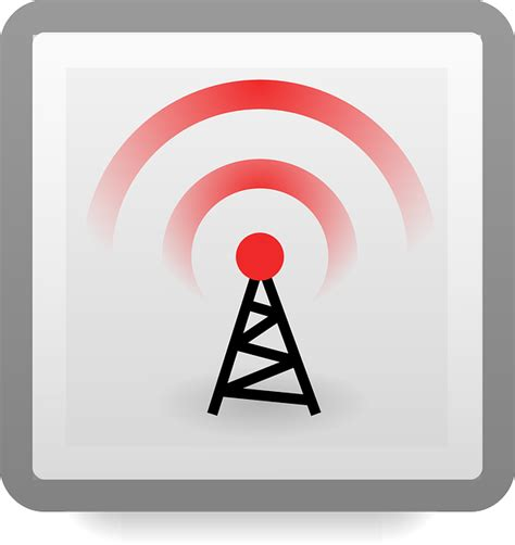 vector graphic wireless wifi antenna tower  image  pixabay