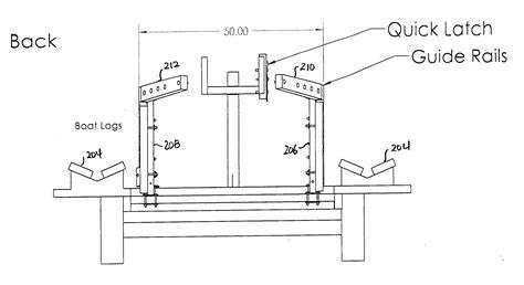 pontoon boat trailer measurements patent us20110133429 boat trailer with adjustable rails