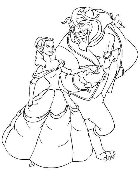beauty and the beast coloring pages coloring pages to print