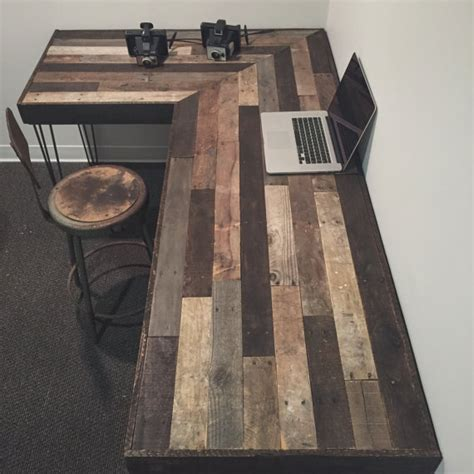 Rustic L Shaped Desk Made From Reclaimed Wood By Reclaimed Wood L Shaped Desk