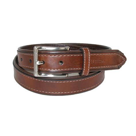 boys contrast brown 1 inch tubular belt by