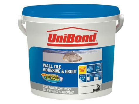 bathroom tile adhesive and grout unibond tile on walls anti mould readymix adhesive grout