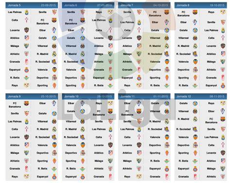 Calendrier Liga 2017 18 Calendrier De La Liga Bbva 2015 2016 Football Tennis