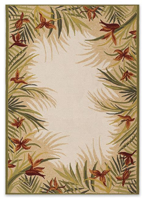 tropical print rugs tropical palm outdoor rug traditional outdoor rugs by frontgate