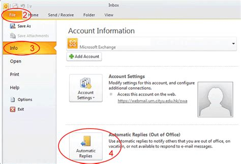 Outlook Set Out Of Office by How To Set Out Of Office In Outlook 2010 2013