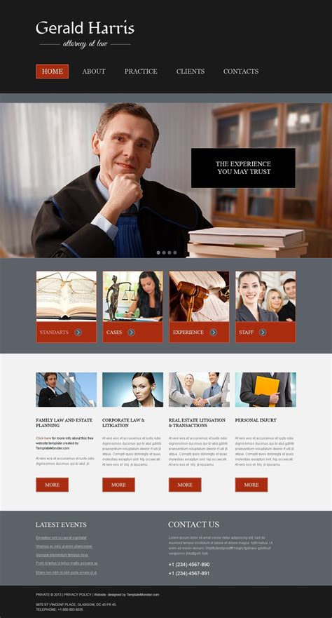 Lawyer Web Templates Free Website Template Law Firm