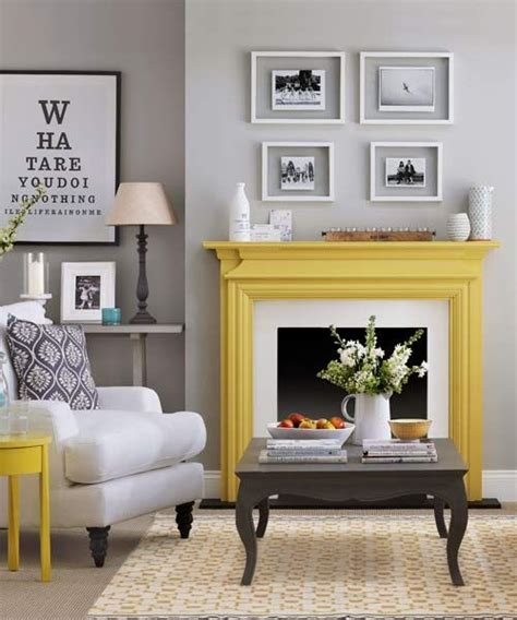 yellow fireplace 15 beautiful diy ideas for your fireplace design sponge