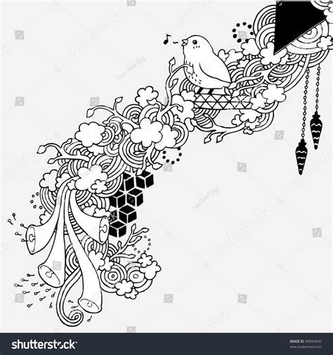 doodle bird doodle bird decoration stock vector 84092845