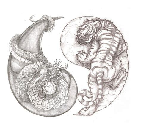 tattoo dragon tiger yin yang awesome tiger and dragon yin yang tattoo idea tattoo