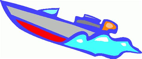 cartoon fast boat speed boat clipart image 9610