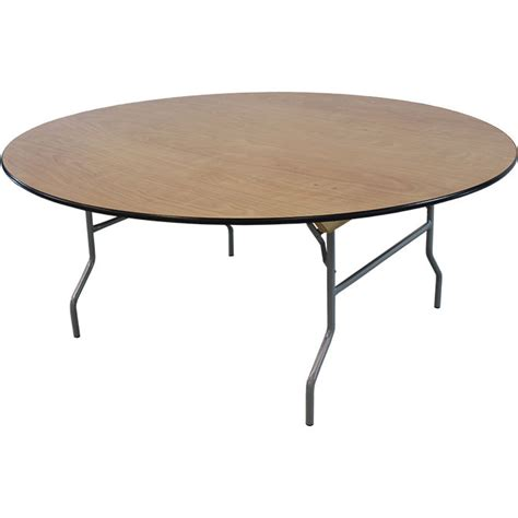 "72"" Round Wood Table"