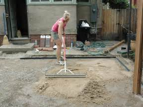 sand for patio pavers how to lay a brick paver patio how tos diy