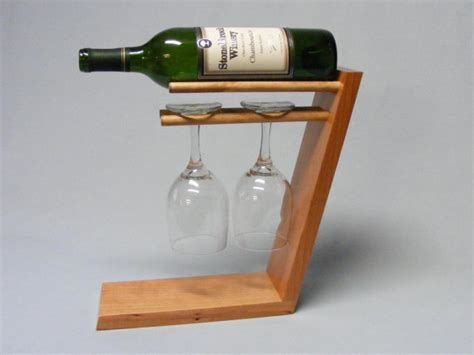 Free Standing Wine Glass Rack by Standing 2 Glass Wine Bottle Holder Cherry By