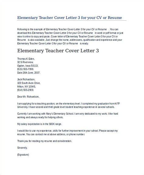 application sle letter elementary application letter for elementary position 28 images