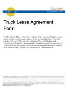 truck lease agreement template best photos of sle truck lease company truck lease