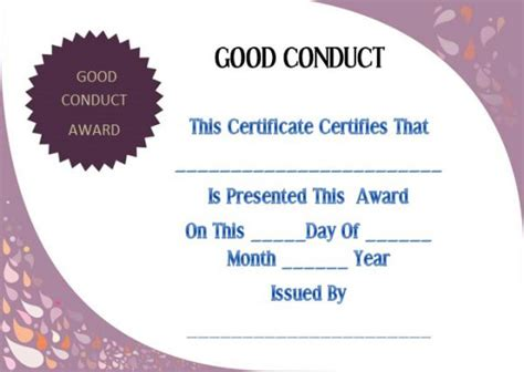 Conduct Certificate Letter Format conduct certificate template 22 word templates for