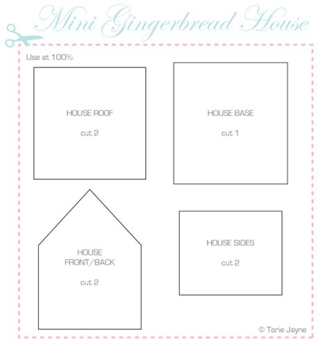 Gingerbread House Plans by 4 Best Images Of Printable Gingerbread House Patterns