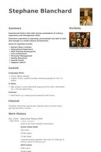 Sle Resume For Pastry Chef by P 226 Tissier Exemple De Cv Base De Donn 233 Es Des Cv De Visualcv