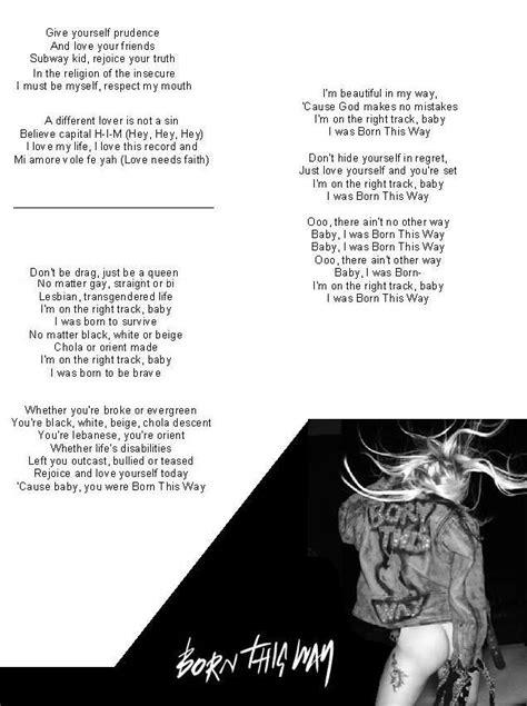 virus part ii lyrics born this way lyrics part 2 by gaga fanno1 on deviantart