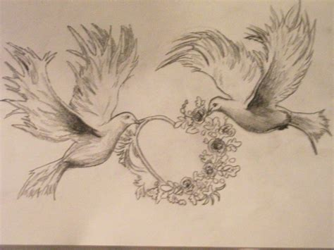 tattoo drawings designs and sketches dove sketched pencil and in color dove sketched