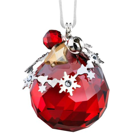 swarovski christmas ornament light siam satin