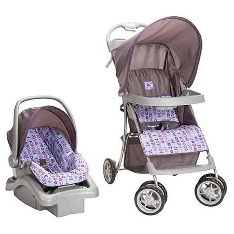 purple and gray stroller and carseat infant travel system stroller car seat baby shower purple