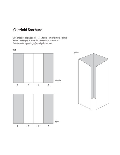 gate fold template gatefold brochure template free