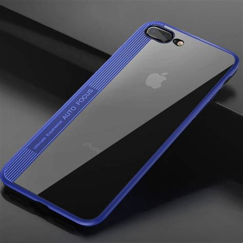 totudesign for iphone 8 plus 7 plus tpu pc dropproof protective back cover blue