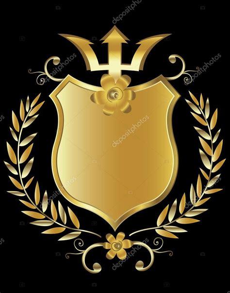 Bling Gold Pita escudo dourado vetor de stock 169 dip2000 21069927