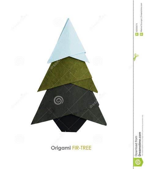 Origami Fir Tree - origami fir tree stock illustration image 62595674