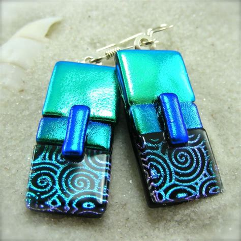 how to make dichroic glass jewelry fused glass dichroic earrings fused glass earrings
