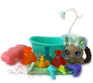 lps bathroom set littlest pet shop lps 13 pc chinchilla bath set lot tub shower tooth
