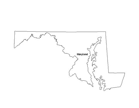 maryland map blank printable map of the state of maryland