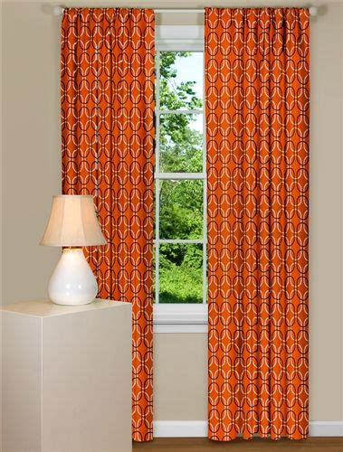 Geometric Orange Curtains 1000 Images About Curtains On Pinterest Surf Board Cotton Canvas And Teal
