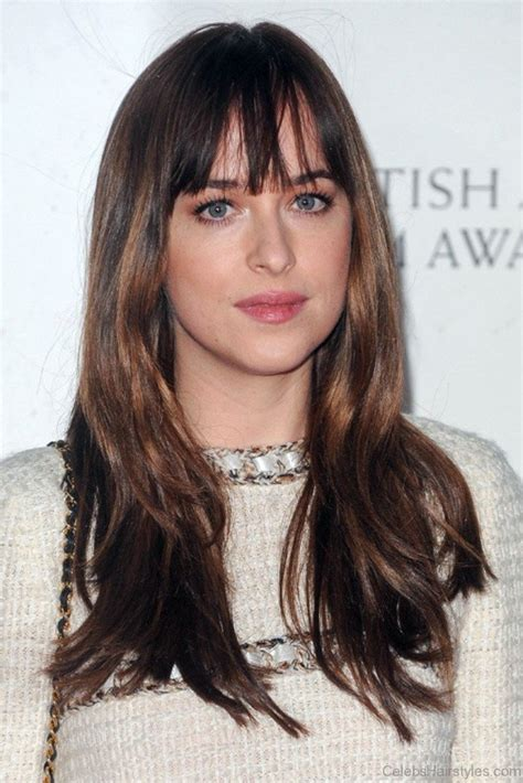 how to get dakota johnsons hairstyle how to get dakota johnson bangs the best bangs of all