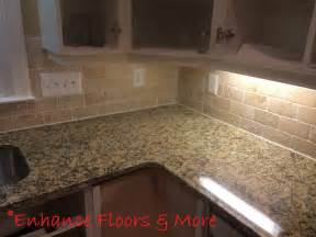 new venetian gold granite countertop with tumblestone