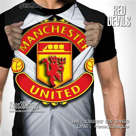 Kaos Manchester United kaos united kaos3d kaos bola manchester united