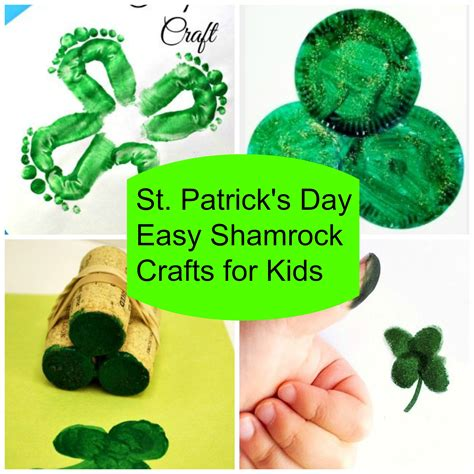 st patricks day kid crafts 5 easy shamrock st s day crafts for